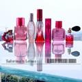 7pcs/set Red Glass Crystal Perfume Bottles Transparant Perfume Bottle Refillable Gift Empty Refillable Perfume Bottle