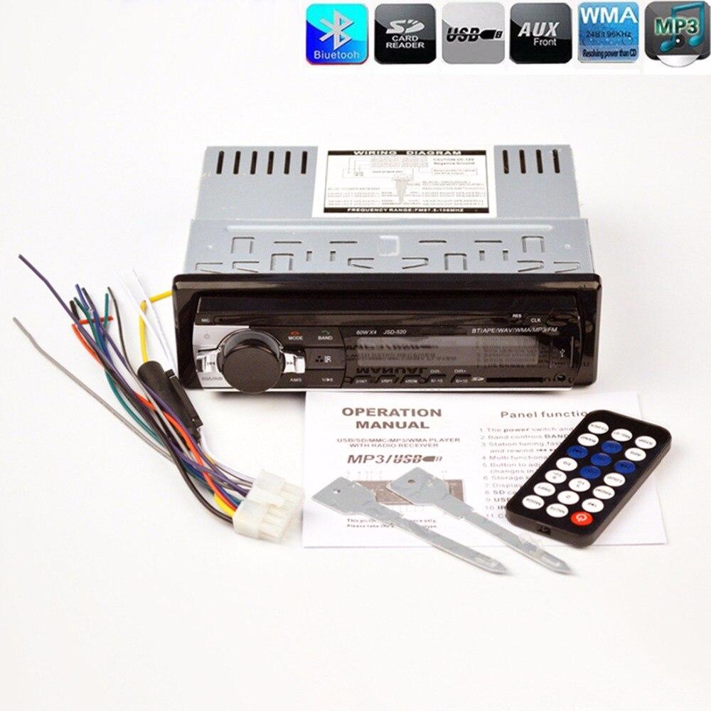 Показателя viecar автомобиля Радио стерео цифровой плеер Bluetooth Автомобильный MP3-плеер fm Радио стерео аудио Музыка USB/SD с в тире AUX вход