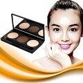 New 3 colors Eyebrow Powder waterproof Eye Brow enhance Palette long-lasting Cosmetic Makeup Shading Kit with mirror Brush