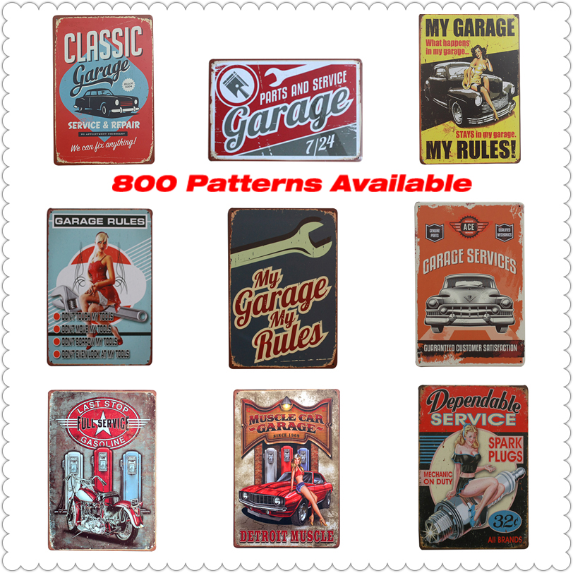 Buy garage metal poster vintage tin sign for Plaque murale decorative metal