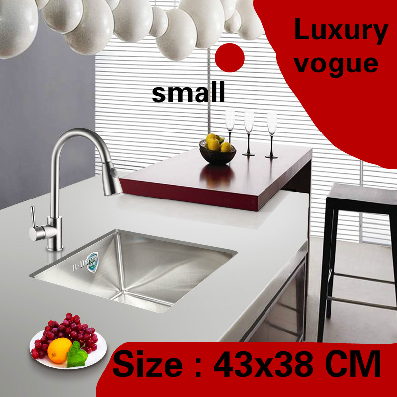 Free shipping Apartment vogue small kitchen manual sink single trough multifunction 304 stainless steel hot sell 430x380 MM Free shipping Apartment vogue small kitchen manual sink single trough multifunction 304 stainless steel hot sell 430x380 MM