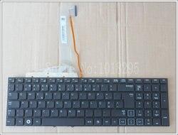 NOVO Portugal Teclado Do Laptop Para Samsung RF710 RF711 RF712 RF730 PO Preto com luz de fundo no frame