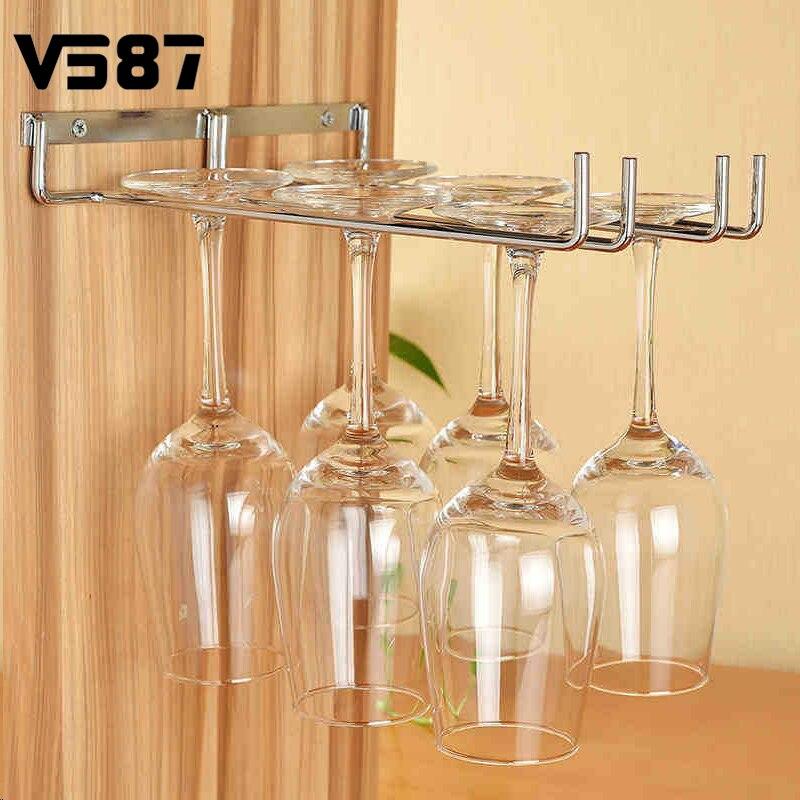 Favoloso Bicchiere di vino Portabicchieri Appeso Occhiali Bere Champagne  TY49