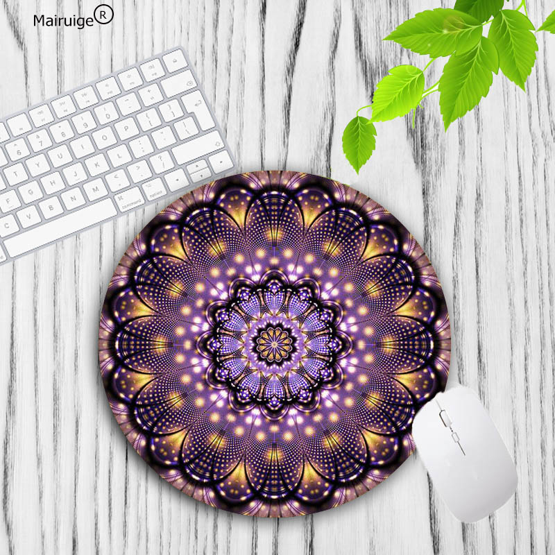Mairuige Mandala Flowern New Small Size Round Mouse Pad Non-Skid Rubber Pad Special Offer Luxury Mousepad For Cute Mouse Pad