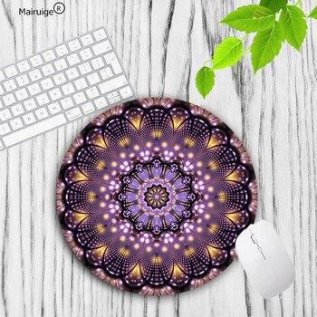 Mairuige mandala flowern novo tamanho pequeno redondo mouse almofada de borracha antiderrapante oferta especial luxo mousepad para bonito mouse pad