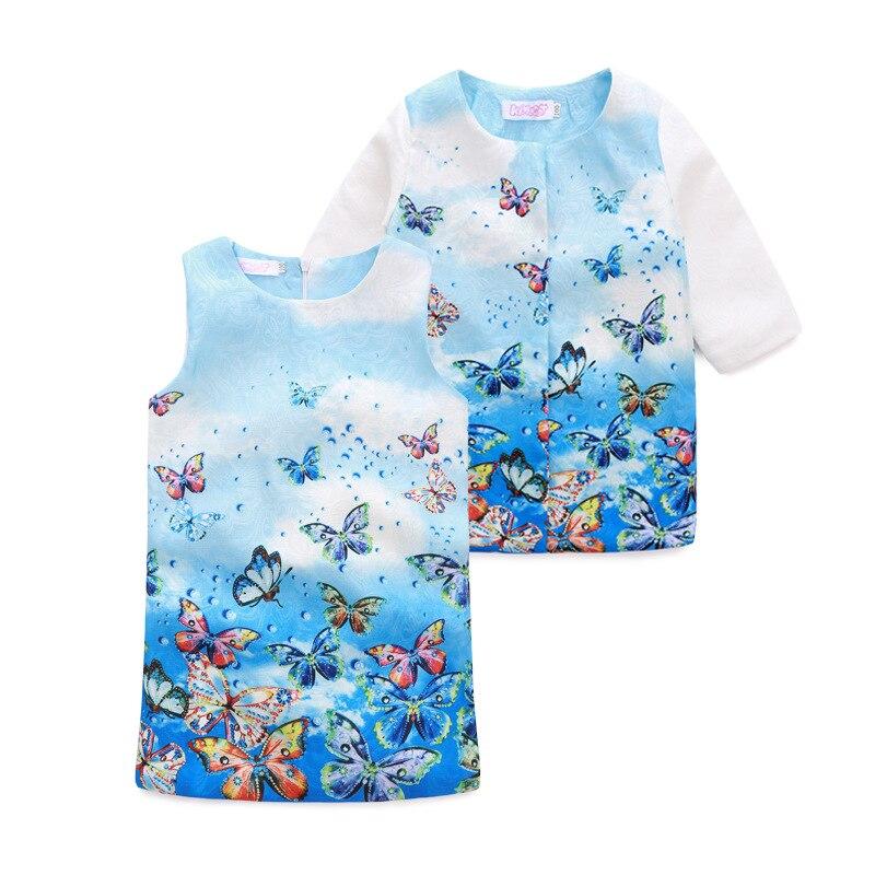 2016 kimocat fashion designer Girls long sleeved jacket Jacquard Dress Suit china imported clothes