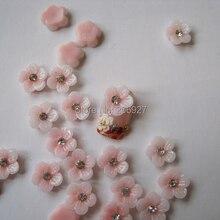 RF10-2 30 шт милый розовый цветок с Стразы форма ногтей смолы украшения outlook