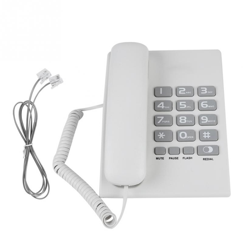 Corded Telephone Desktop Pause Office-Landline Hotel Home White Flash-Function