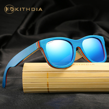 KITHDIA Handmade Skateboard Wooden Bamboo Sunglasses Women Cute Eyewear Sun Glasses With Original Package #KD033