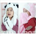 Special Kawaii Animal Shape Baby Hat Sets, Winter Kids Caps with Gloves, Good Gift For Birthday Head Accessories
