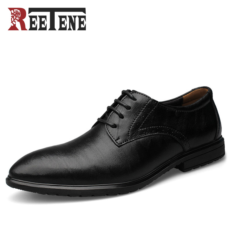 REETENE Fashion Leather Men Oxford, Casual Brand Men Dress Shoes, Business Genuine Leather Men Shoes, Oxford Shoes For Men goldenlake brand 2016 new fashion men summer genuine leather shoes men s casual shoes mens oxford shoe for men gl8229