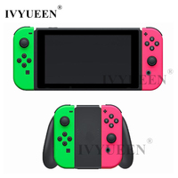 IVYUEEN Replacement Housing Shell For Nintend Switch JoyCon Cover Green Pink For NS Joy Con Controller