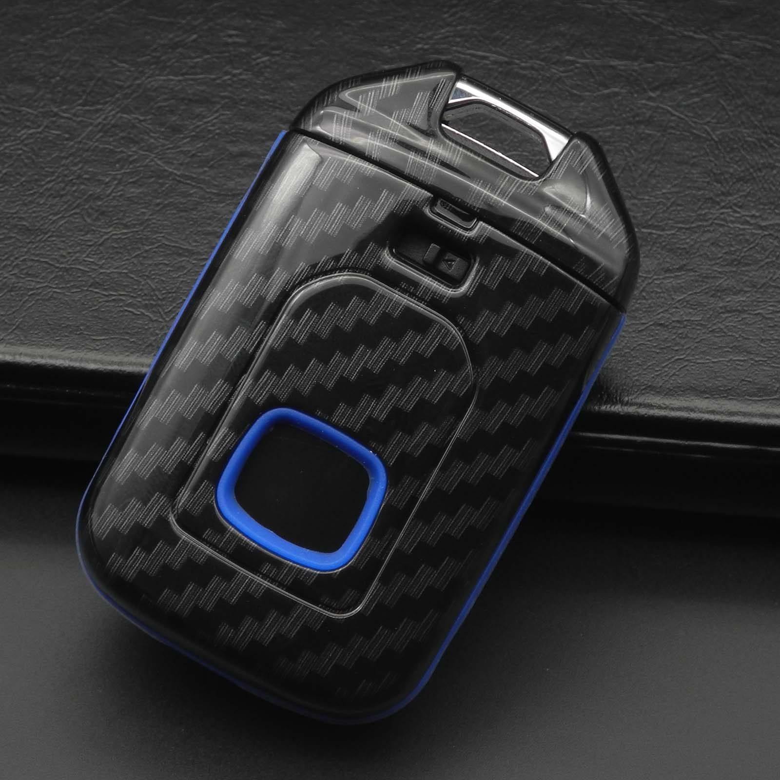 Bilchave 3 Buttons Fashion Carbon Car Key Cover Case For Honda Vezel city civic Jazz CRV Crider HRV in Key Case for Car from Automobiles Motorcycles