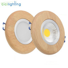 Ring solid wood led downlight 3W 5W 7W led recessed lights  LED ceiling spotlights industrial office living room background lamp