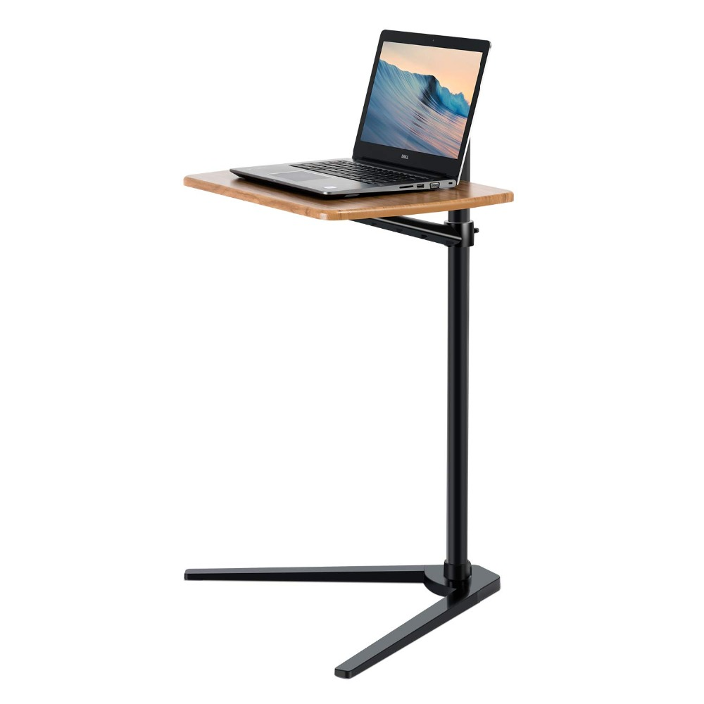 Floor Stand for Laptop Aluminum Height Adjustable Table for Bed Sofa Upgraded Reinforced Chassis for MacBook