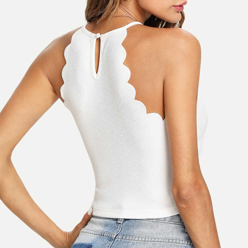 c526b706c9fff0 ... Sexy Halter Crop Top Women 2019 Summer Fitness Skinny Tight Bustier Crop  Top Tee Shirt Belly ...