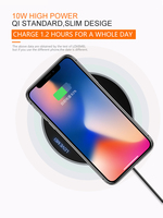 Original Love Mei Portable Wireless Charging Charger Pad for iPhone X 8 8 Plus Galaxy Note 8 S8 S8 Plus S9 S9 PLUS S7 S6 S7 edge