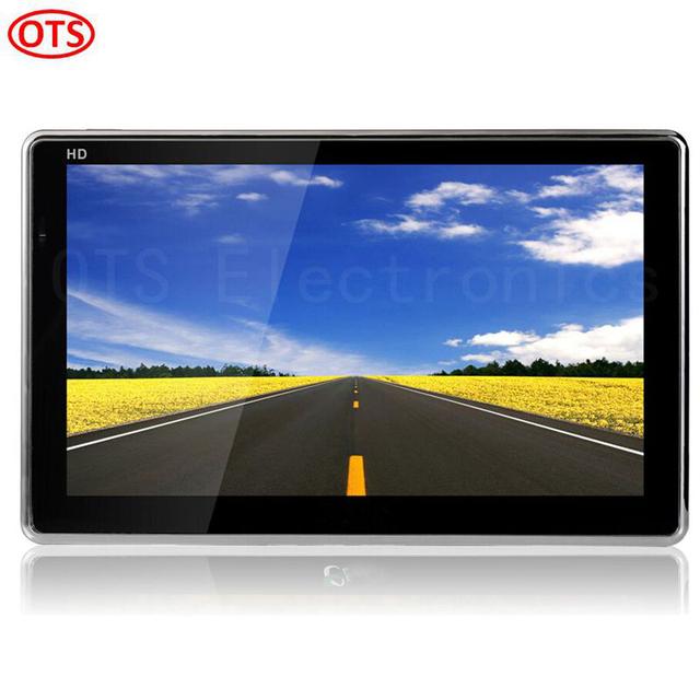 7 polegada de Navegação GPS Windows CE 6.0 Car Truck Veículo Navegação GPS Embutido 8 GB de Disco Do Jogo Video Player de Música Livre grátis
