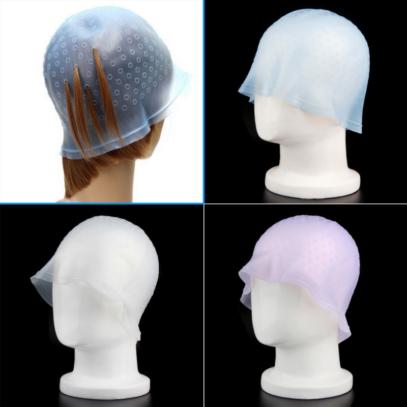 1 Pc Professional Reusable Hair Colouring Highlighting Dye Cap With Hook Frosting Tipping Color Styling Tools 6027
