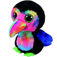 "Pyoopeo Ty Beanie Boos 10"" 25cm Beaks the Toucan Plush Medium Soft Big-eyed Stuffed Animal Collection Doll Toy with Heart Tag(China)"