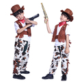 Free shipping Halloween costume for boys Cowboy stage costumes Masquerade Costume cowboy parents installed