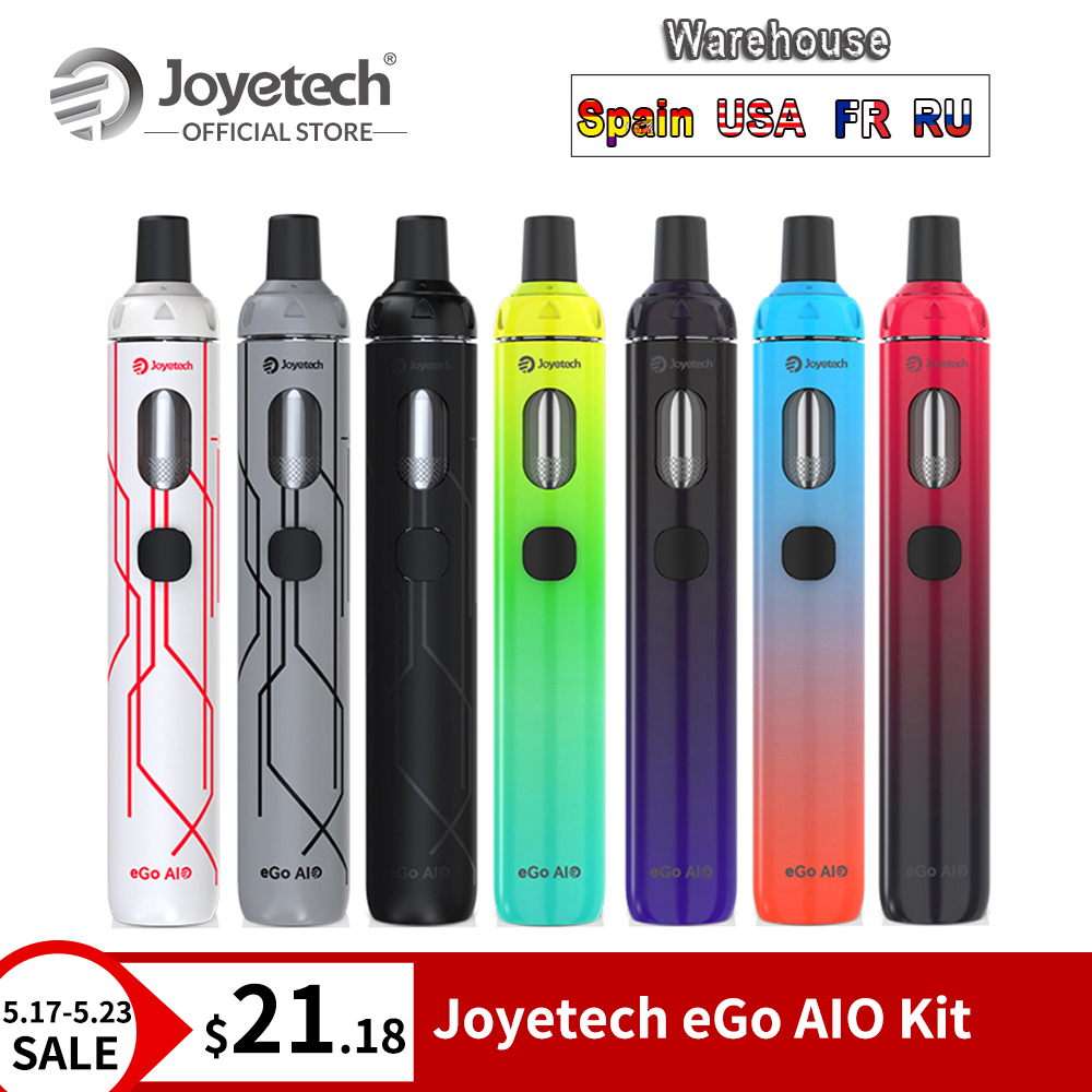 Original Joyetech eGo AIO Kit 10th Anniversary Edition Built in 1500mAh Battery 0.6 ohm BF SS316 Coil Vape Pen Kit E CigOriginal Joyetech eGo AIO Kit 10th Anniversary Edition Built in 1500mAh Battery 0.6 ohm BF SS316 Coil Vape Pen Kit E Cig