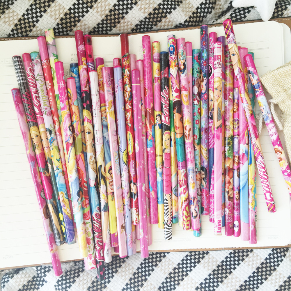12 pcs lot children writing cute pencils primary school students safe and environmentally friendly HB stationery cartoon pencis in Standard Pencils from Office School Supplies