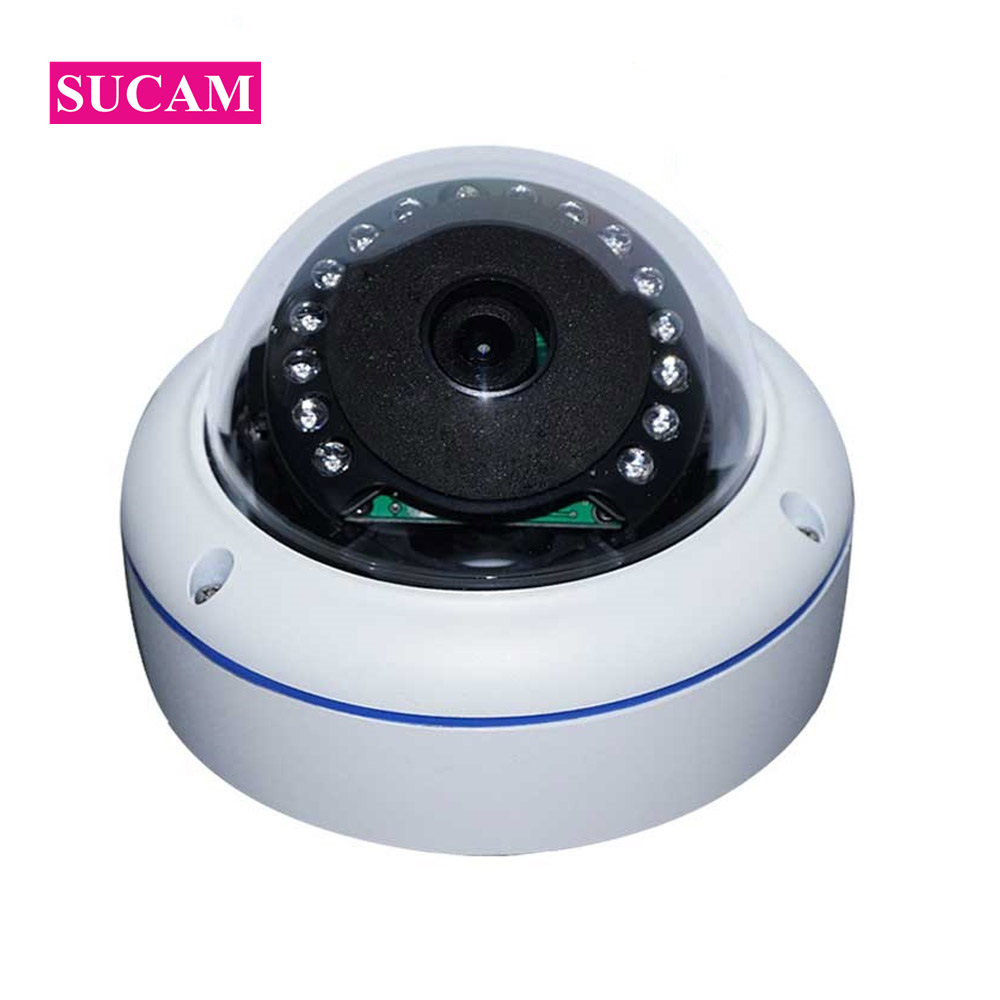SUCAM Full HD 180 Degree Dome IP Fisheye Cameras Indoor Vandal Proof 15 Led Light Surveillance