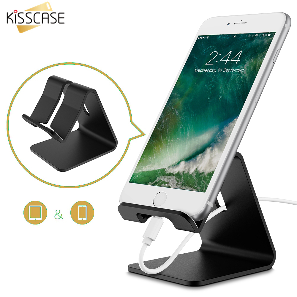 KISSCASE Smart Desk Holder Stand For iPhone X 7 8 Desktop Stand For Samsung Xiaomi Smartphone Tablet Stand Holders For iPad Air