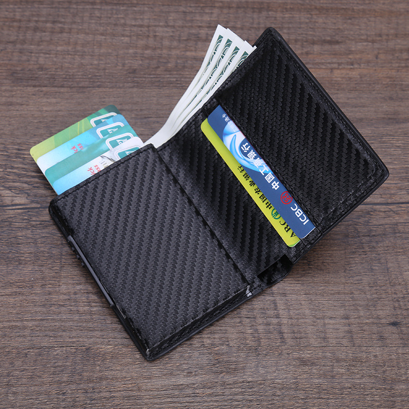PU Leather Credit Card Holder Men Women RFID Metal Card Holder (13)