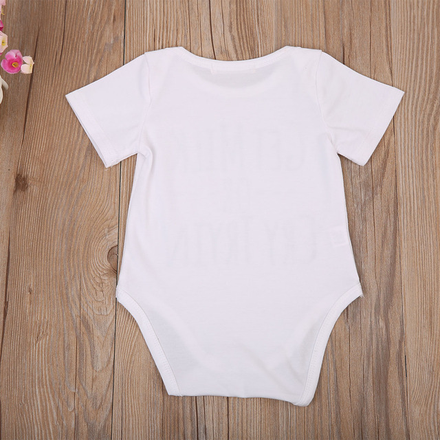 Print Letter Get Milk or Cry Newborn Clothes Baby Boy Girl Cotton Romper Jumpsuit One Piece Outfits Sunsuit 0-18M 2