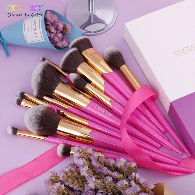 Docolor Makeup Brushes Set 14PCS Professional Make Up Brushes New Brushes for Face Makeup  Foundation Powder Eyeshadow Brushes 3
