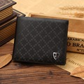 Free shipping 1pc Male short design genuine leather wallet men's casual cowhide wallet purse, two color to choose