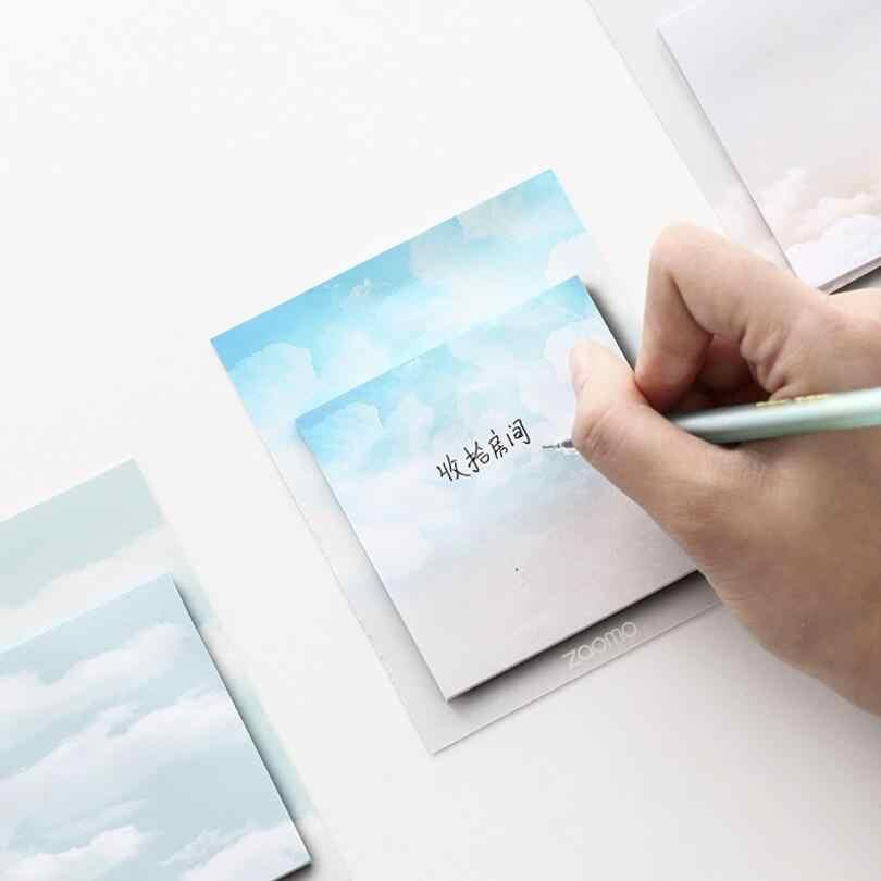 30 แผ่นการ์ตูนสร้างสรรค์สภาพอากาศ cloud Memo Pad N ครั้ง Notes Memo โน้ตบุ๊คเครื่องเขียน Papelaria Escolar โรงเรียนซัพพลาย