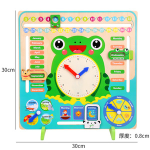 Image 5 - Wooden Montessori Toys Baby Weather Season Calendar Clock Time Cognition Preschool Education Teaching Aids Toys For Children