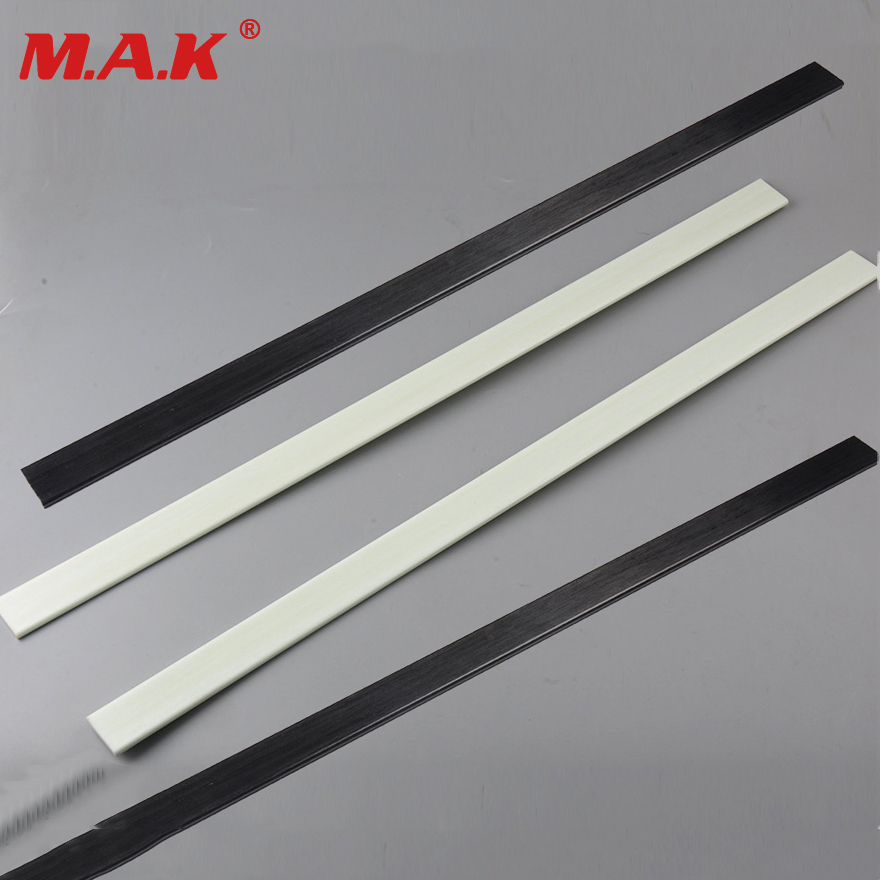 2 pcs Mixed Fiberglass Bow Limbs High Strength 5mmx30mmx600mm Black/White 40-50 Pound for DIY Bow Archery Hunting Shooting