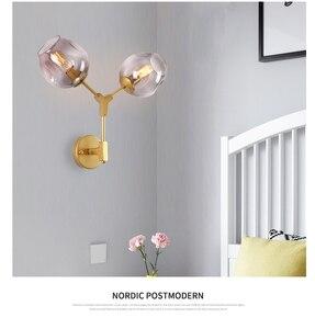 Image 2 - Lámpara de pared LukLoy, lámpara de pared moderna de doble cabeza mágica, candelabro de pared de globos de ADN