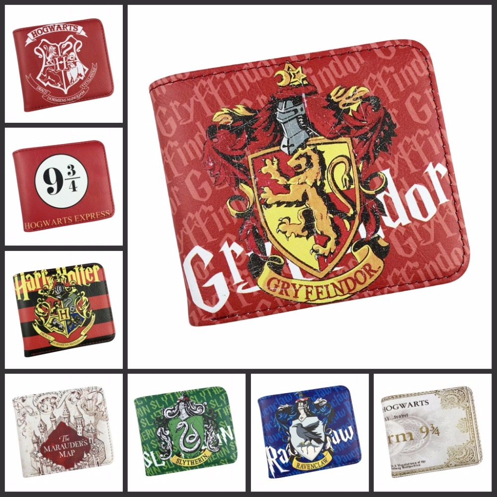 New Arrival Anime Harry Potter Wallet Arts Purse Hogwarts Marauders Map Women's PU Leather Wallet Unisex Purse High Quality Gift