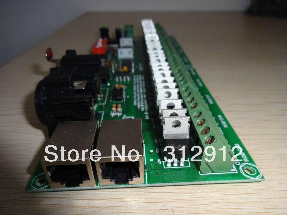 27channel easy constant voltage dmx decoder with RJ45 interface,DC7-24V input kvp 24200 td 24v 200w triac dimmable constant voltage led driver ac90 130v ac170 265v input
