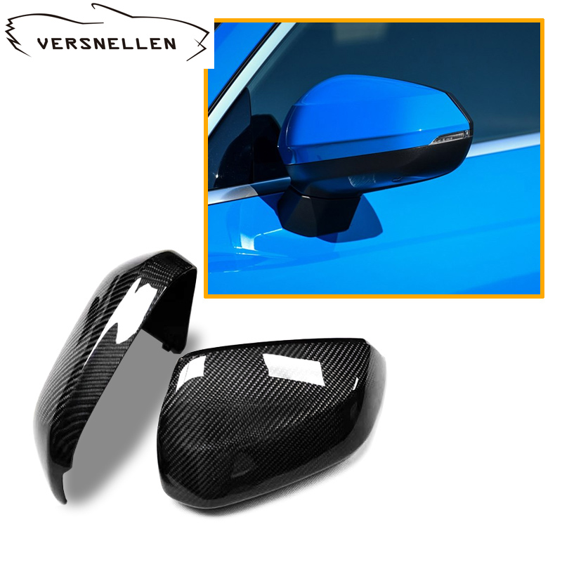 Q3 Carbon fiber side view Mirror Caps Replacement for Audi Q2 2019 Q3 2019 Fitment Side car Mirror Cover|Mirror & Covers| |  - title=