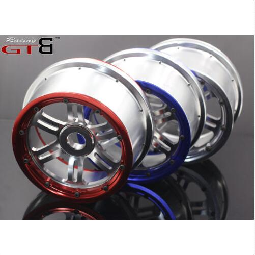 full alloy CNC Wheel Set wheel hub rim with outter and inner beadlock lock for Losi