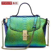 Jules Lady Leather Shoulder Bags In Europe And The Big Female Baotou Layer Leather Crocodile Grain