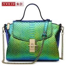 ZOOLER Women Luxury Genuine Leather Bags Handbags Chain Shoulder Bag Europe Design Female Crocodile Wing Package  bolsa feminina