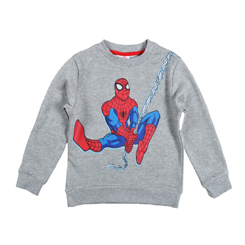 Spider-Man Kids T-Shirt Boy Cartoon Printed Tops Outwear Red Gray Long Sleeve T shirts Fashion Boys Sweatshirt Children Clothes