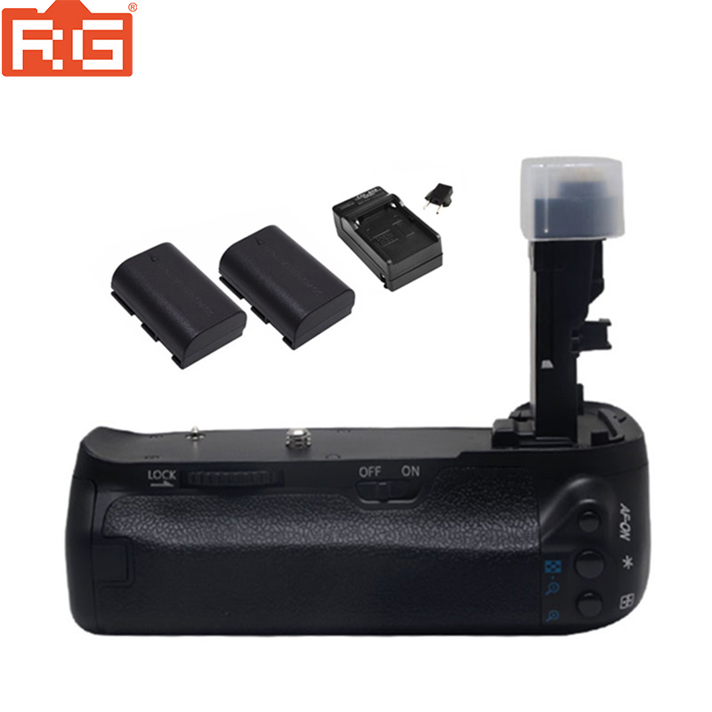 Meike MK 70D Vertical Battery Grip Holder with 2x LP E6 Battery Charger For Canon EOS