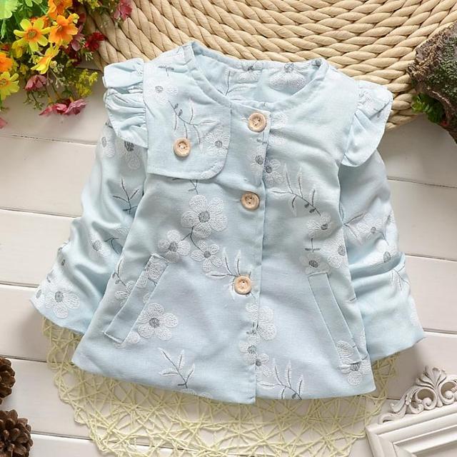 Casual primavera outono do bebê meninas infantil crianças princesa flor casacos casacos casacos casaco Cardigan MT389