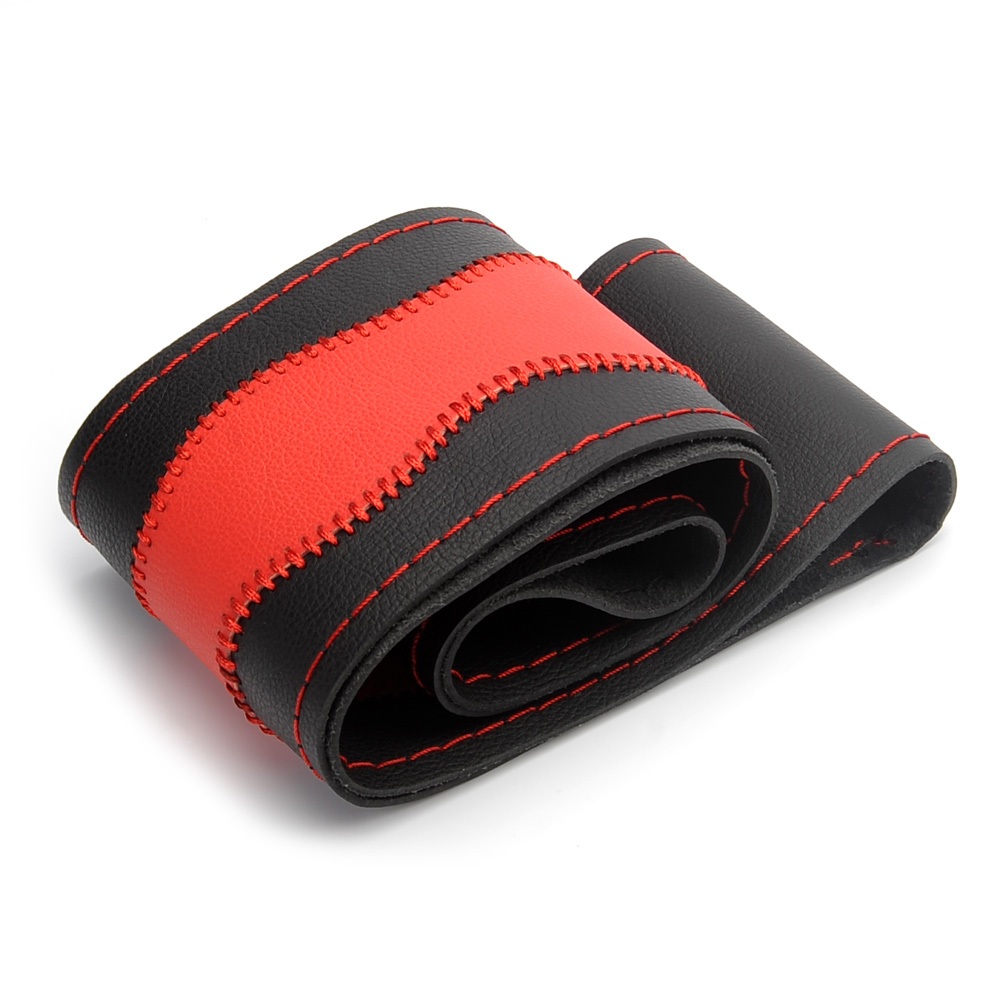 Steering Covers DIY Microfiber Leather Car Steering Wheel Cover Handmade Braid Auto Interior Accessories