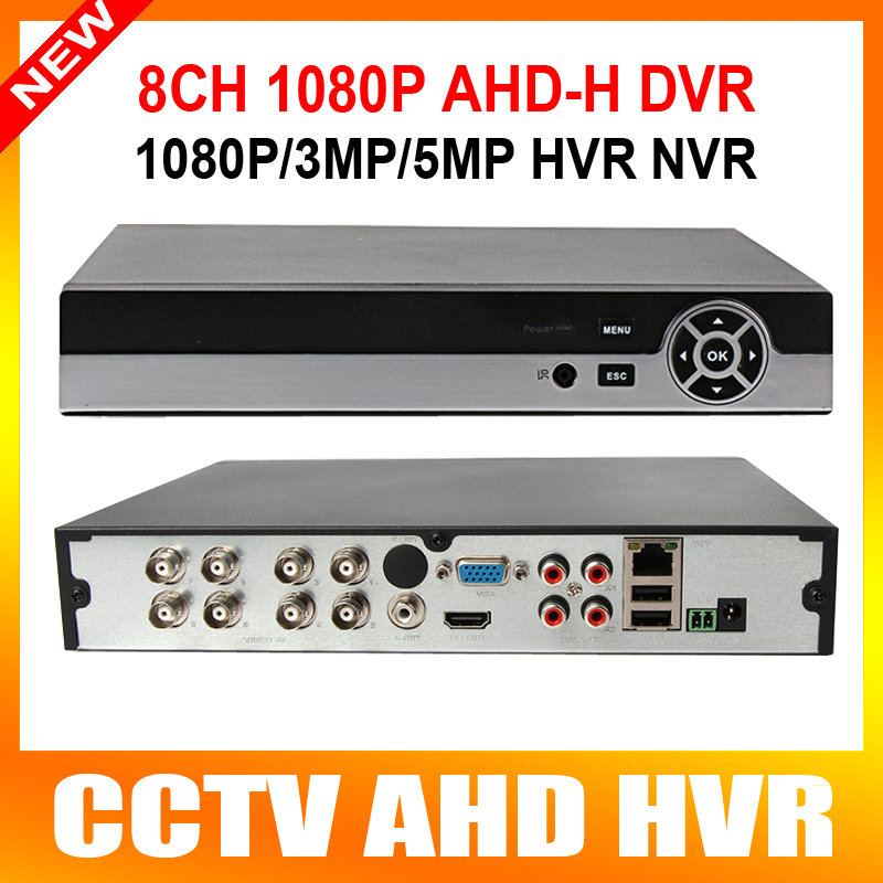 ФОТО H.264 Full HD 1080p 8CH AHD DVR Video Recorder With HDMI Output Support 1*4TB HDD Hybrid DVR NVR 1080P/960P Playback 8Ch
