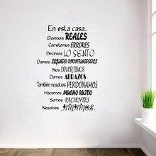 free shipping Spanish Wall Decal Stickers- En Esta Casa Home