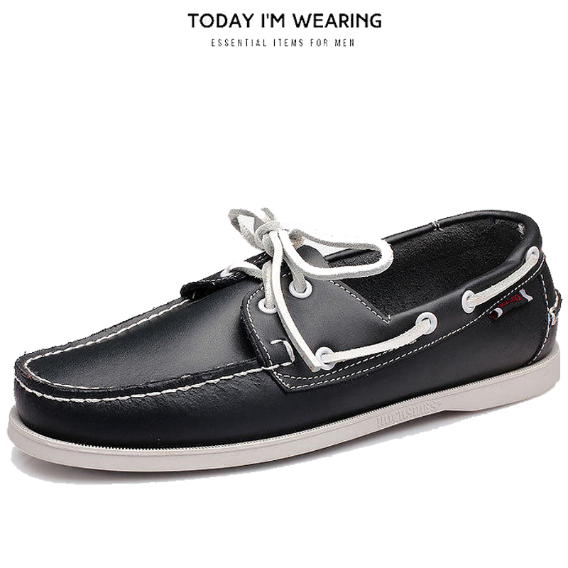 Genuine Leather Men Casual Shoes Tassel Boat Shoes Classic Loafers Slip On Moccasins Personality Driving Shoes England Flats